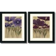 "Amanti Art Vittorio Maria ""Summer Blooms"" Framed Print Art Set, 20"" x 17"""