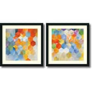 "Amanti Art Noah ""Cubitz"" Framed Art Set, 24"" x 24"""