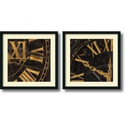 "Amanti Art Russell Brennan ""Roman Numerals"" Framed Print Art Set, 26"" x 26"""