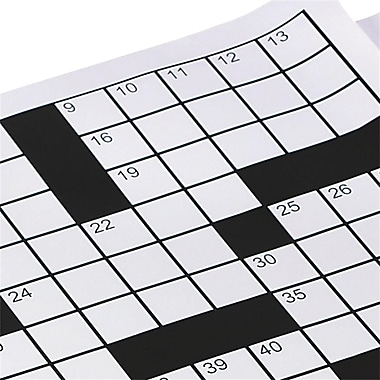S&S® EXtra Crossword Grid Sheets, 60/Pack