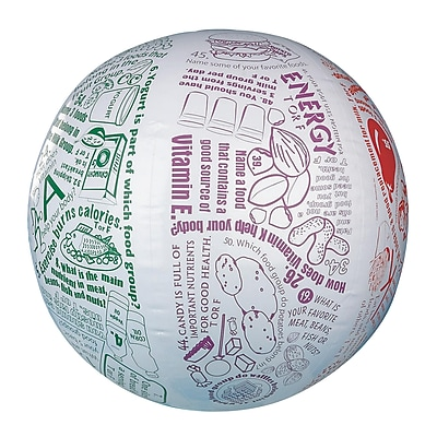 S&S® Toss 'n Talk-About® Nutrition Ball