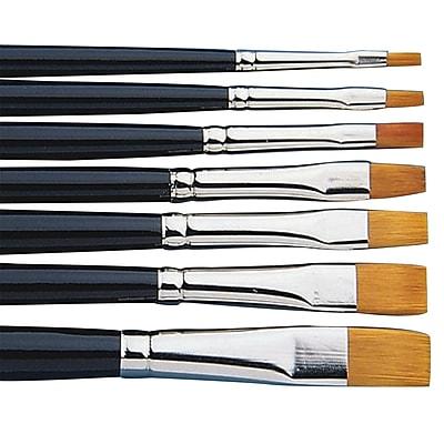 S&S® Taklon Brights Brush Assortment, 7/Set