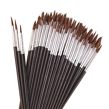Color Splash® Pointed Round Brushes, 144/Pack
