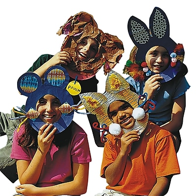 S&S® Animal Masks Activity Pack, 24/Pack