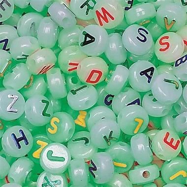 S&S® Glow in the Dark Alpha Beads Bag, 600/Bag