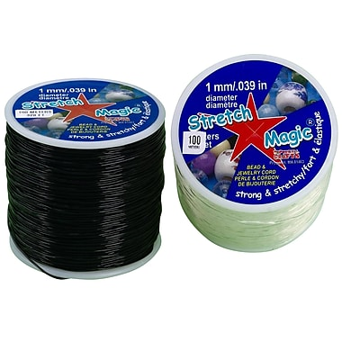 ReXlace® 328' Spool Stretch Magic Jewelry Cord, Black
