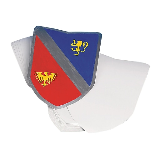 Color-Me™ Blank Shield, 36/Pack