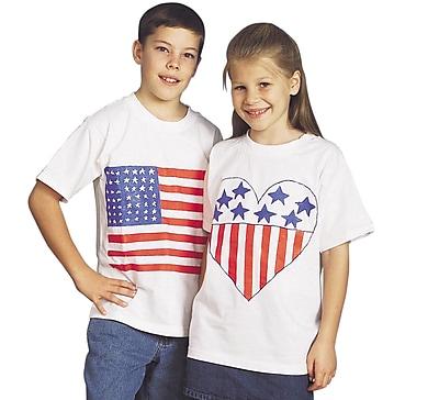 S&S FA3053 Child Sized White T-Shirts, 6/Pack