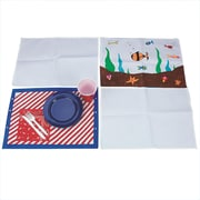 "S&S® Color-Me™ 18 1/2"" X 13"" Canvas Placemat"