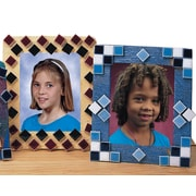Educraft® Mosaic Tile Picture Frames Craft Kit, 12/Pack