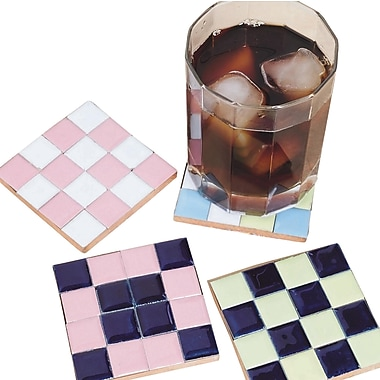 Geeperz™ Tile Coasters Craft Kit, 12/Pack