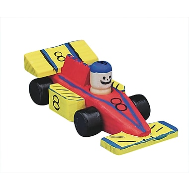 Geeperz™ Wooden Race Cars Craft Kit, 12/Pack