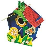 Geeperz™ Wooden Birdhouse Craft Kit, 12/Pack
