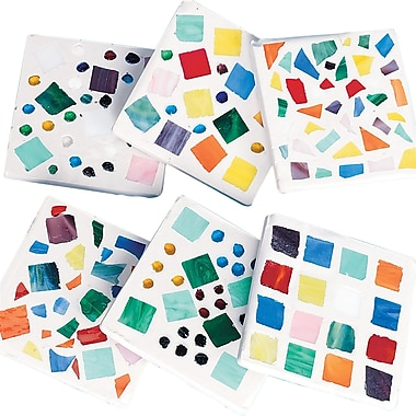 Geeperz™ Mosaic Coaster Craft Kit, 12/Pack