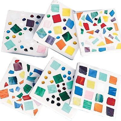Geeperz™ Mosaic Coaster Craft Kit, 12/Pack