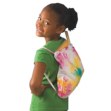 S&S® Tie-Dye Backpack Craft Kit, 12/Pack