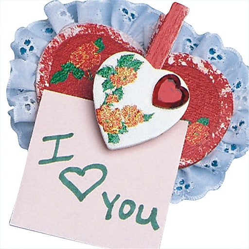 S&S Worldwide Heart-To-Heart Note Holders Craft Kit, 24/Pack