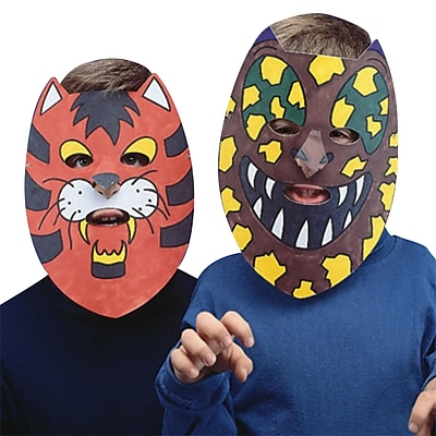 Educraft® Animal Color-Me™ Masks Craft Kit, 24/Pack