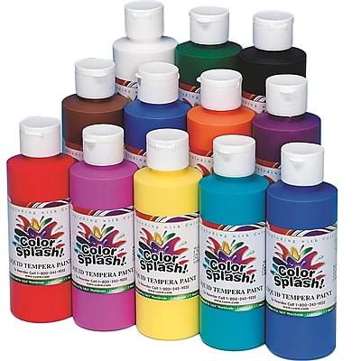 Color Splash® 8 oz. Liquid Tempera Paint, Assorted Colors