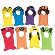 "S&S PS1378 Multicolor Velvet Art EVA Animal Door Hangers, 11"" x 4.25"", 16/Pack"