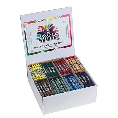 Color Splash® Crayons Plus Pack, 400/BoX
