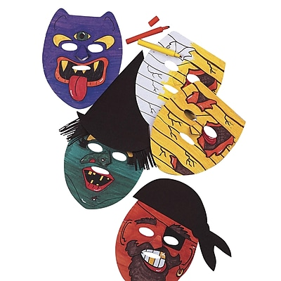 Geeperz™ Halloween Masks Craft Kit, 24/Pack