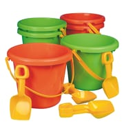 "S&S® 10"" Jumbo Poly Pails With Shovels, 6/Pack"