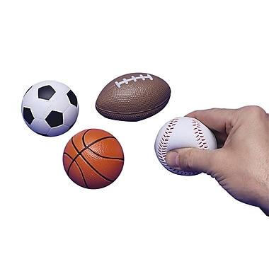 S&S® Sports Squeeze Balls, 12/Pack
