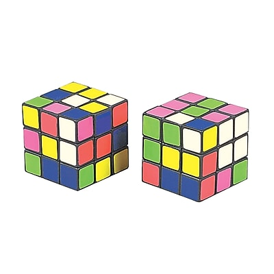S&S Mini Magic Cube Puzzles, 12/Pack