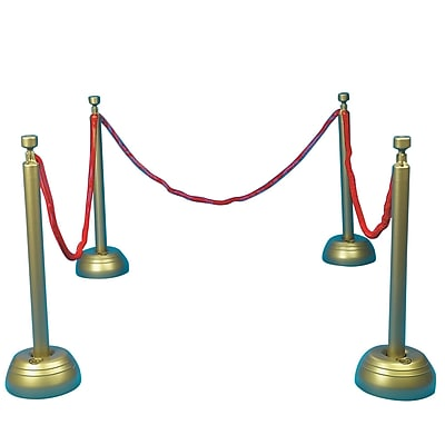 S&S® Red Rope Stanchion Set