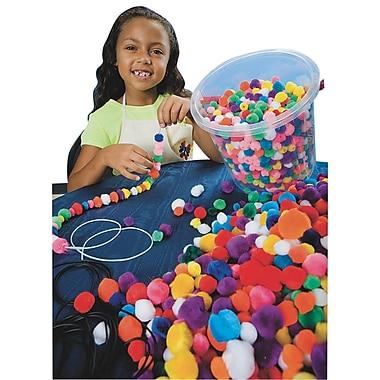 S&S TR262 Assorted Pom Pom Beads