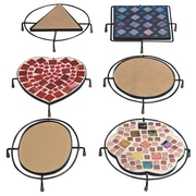 S&S® Tile Trivets With Feet, 24/Pack