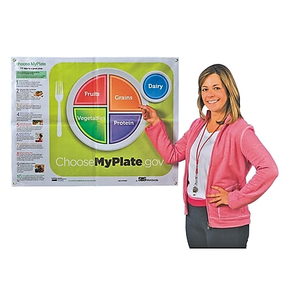 S&S® Choose MyPlate Vinyl Poster