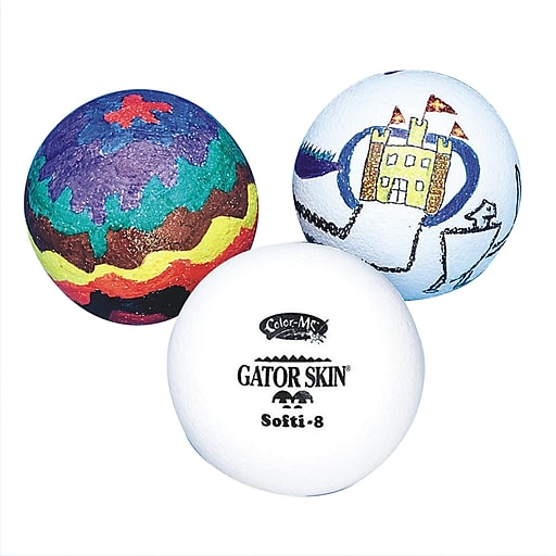 "Gator Skin® Color-Me™ Special Ball, 8""(Dia.), White"