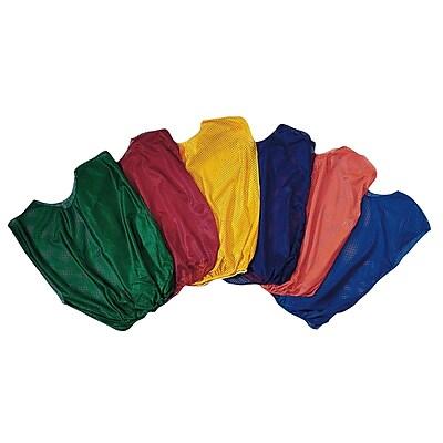 Spectrum™ Adult Size Nylon Mesh Pinnies, Yellow