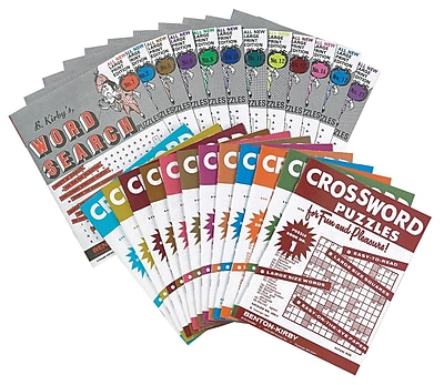 S&S® Large-Print Crossword Puzzles Book