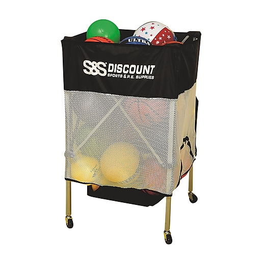 "S&S® Economy Ball Cart, 29"" x 24"" x 24"""