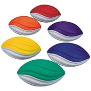 """Spectrum™ Spiral Foam Football Set, 7 1/2""""L, Assorted, 6/Set"""