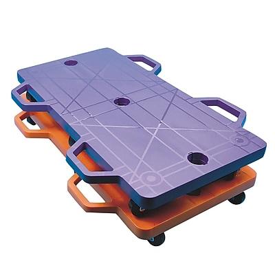 Spectrum™ Large Polypropylene 2-Person Scooter, Orange/Purple, 2/Pack