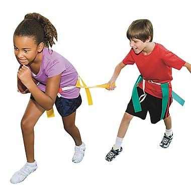 Italtrike Triple Play Flag Belt, Large, Yellow, 6/Set