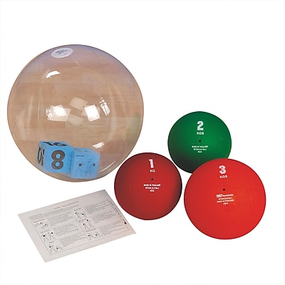 S&S® ExerBall™ Medicine Ball Station Youth Pack