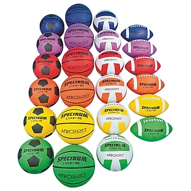 Spectrum™ Lite Junior Size Sports Ball Pack, 24/Pack