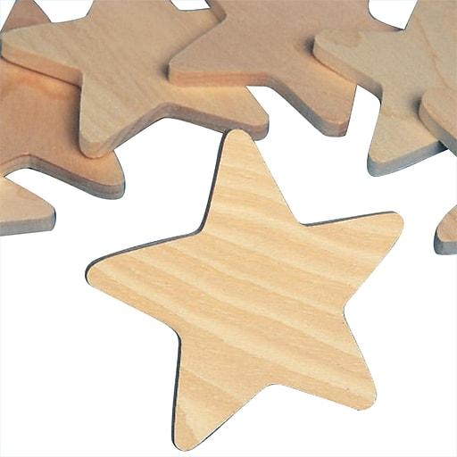 S&S® Wooden Stars, 25/Pack
