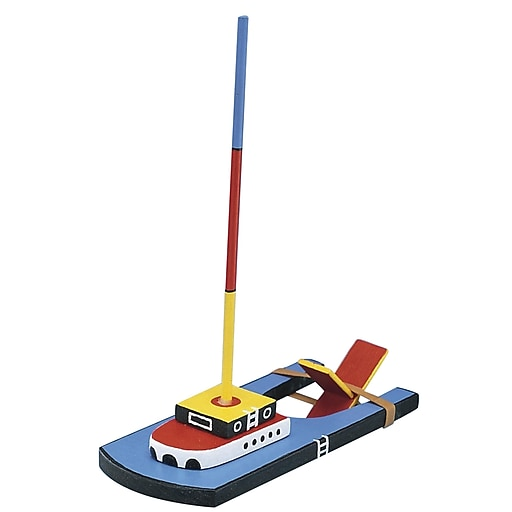 S&S® Unfinished Wooden Paddle Boat, 12/Pack