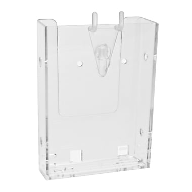Acrylic Brochure Holders, Tri Fold Wall Mount Slatwall/Grid with Business Card and Accessory Kits