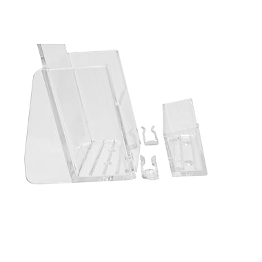Acrylic Brochure Holders, Half Page Wall Mount Slatwall/Grid with Business Card and Accessory Kits