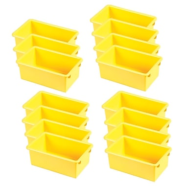 ECR4Kids Stack & Store Tub without Lid - Yellow 6-Pack