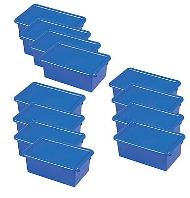 ECR4Kids Stack & Store Tub with Lid - Blue 6-Pack