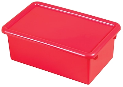 ECR4Kids Stack & Store Tub with Lid - Red 6-Pack