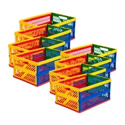 ECR4Kids® Large Vented Collapsible Crate, Assorted, 12/Pack